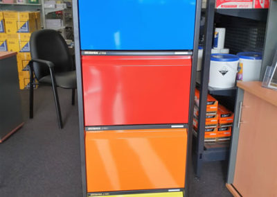 Colour coded 4 drawer filing cabinet custom colours available