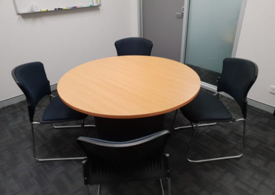 Oxley Commcerial Round Table for small meeting rooms or huddle spaces