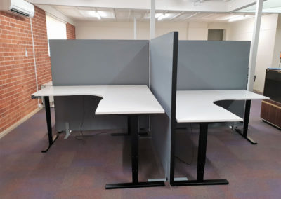 Vertilift Sit Stand Desks Rapidline Acoustic Screens