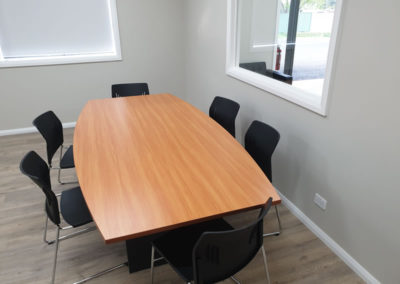 Boardroom table with Steelco Ace Visitor Chairs