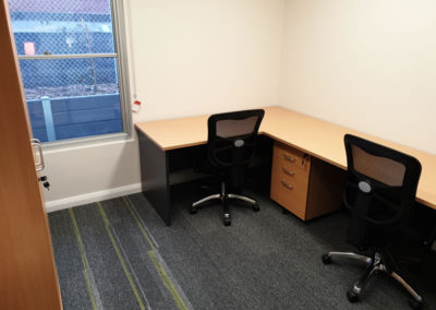 Desking to exact room dimensions