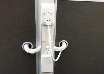 Starter ports for modular workstation under desk power and data wiring