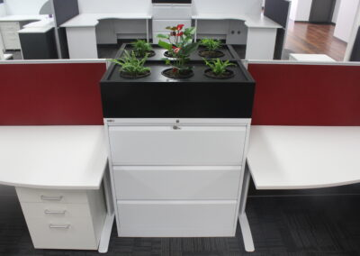 Go Steel Planter box, Rapidline lateral filing cabinet