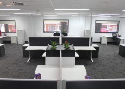 Rapidline corner workstation POD Bathurst/Central West fit out