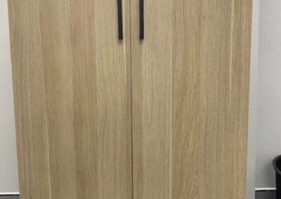 DDK Custom-made storage cupboard with shelving in Natural Oak