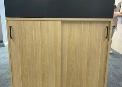 DDK custom-made sliding door cupboard & planter-box