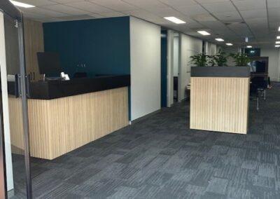 Custom-made DDK Orion Reception Desk in Natural Oak