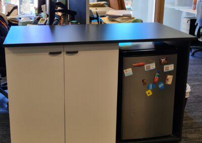 Custom made office fridge cabinet