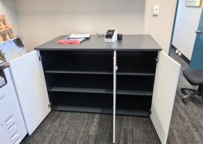 Custom made packing shelf and storage