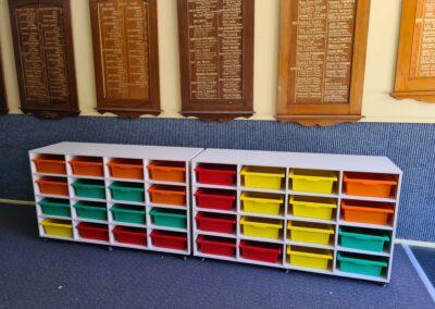 Elizabeth Richards School Mobile Storage Trolley with 16 trays