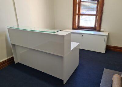 Custom made reception desk